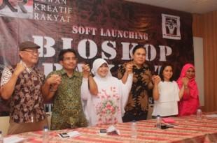 DKR, gelar prescon Bioskop Rakyat, Senin (18/5) di Jakarta. Foto: Buyil