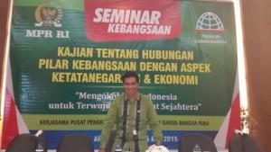 Krisna Mukti Hadir di Seminar Kebangsaan di Pekan Baru Riau, (25-26/5/2015). Foto: Dok. Pribadi.