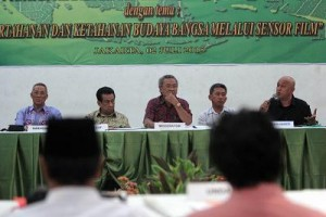 Diskusi film digelar  Forum Koordinasi Lembaga Sensor Film. Foto: Dudut Suhendra Putra.