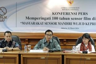 Preskon 100 Tahun Sensor Film, Rabu (16/3/2016) di Jakarta. Foto: Dudut Suhendra Putra.
