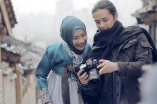 Adegan film Jilbab Traler Love Spark In Korea. Foto: Ist.