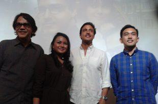 Mereka yang terlibat di film Spy In Love, Ray Sahetapy, Dwitasari, Hamish Daud dan Gion Darwis. Foto: Ibra