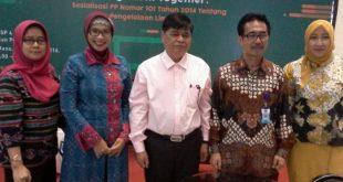 Manajemen PT JIEP dan peserta dalam seminar sosialisasi pengolahan limbah B3 di gedung Gedung BPSP, Kawasan Industri Pulogadung Jaktim. Foto: Ist.