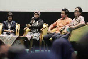 "Diskusi film, bertajuk  "" Penonton Bioskop Cerdas."" Foto: Dudut Suhendra Putra."