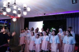 Murid-murid Purwa Caraka yang akan konser di Amerika. Foto: Ibra.