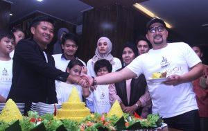 Syukuran film Haji Kecil jelang produksi, Selasa (11/7/2017) malam di Jakarta. Foto: San.