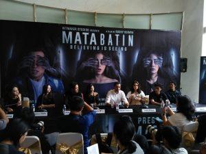 Prescon film Mata Batin, Senin (25/9/2017), di Jakarta. Foto: Ibra.