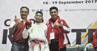 Karateka Azzachrul Rebut Medali Perak Popnas XIV-2017