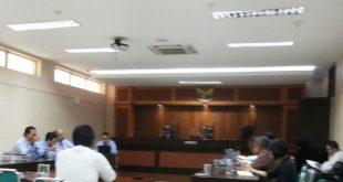 Suasana sidang kasus air mineral di di kantor KPPU jalan Ir H Juanda no 36 Jakarta Pusat belum lama ini. Foto: Ist.