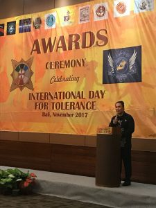 Damien Dematra selaku founder dan director dari International Film Festival for Spirituality, Religion and Visionary (IFFSRV) 2017. Foto: Ist.