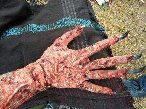 Tangan Siluman laut di film 11:11 Apa Yang kau lihat? Foto: Ibra.
