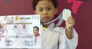 Karateka Cilik Azzura Zahara Harahap Bikin Kejutan, Raih Medali Perak