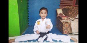 Karateka cilik Azzura Zahara Harahap calon atlet nasional. Fptp: Ist.