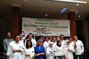 Anggota IPPAT yang mengugat hasil kongres IPPAT ke 7 di maksar. Foto: Ki2.