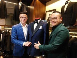 Jas resepsi pernikahan baim Wong dikenalkan oleh disainer Samuel Wongso dan adiknya, Kamis (22/11/2018) malam di jakarta, Foto: Ibra.