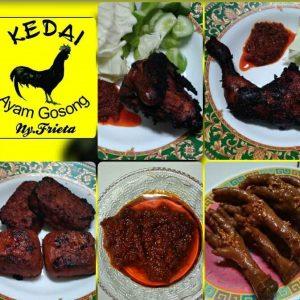 menu favorit di kedai AYAM GOSONG ny. Frieta. Foto: ist.