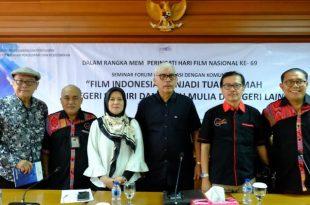 Seminar film yang digelar Pusbang dan Forwan, kamis (28/3/2019) di gedung Film di jakarta. Foto: dudut Suhendra Putra.