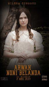 Milena Tunguz pemeran hantu cantik di film Arwah Noni Belanda. Foto: ist.