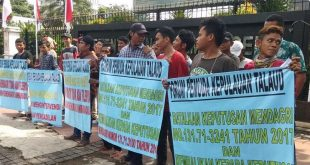 FPKT Demo ke Kantor Kemendagri Minta SK No.131.71-3241 Dicabut