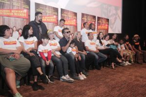 Prescon film Dilarang Menyanyi Di Kamar Mandi. Foto: Dudut Suhendra Putra.