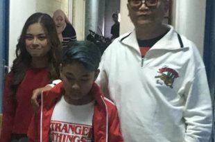 Made Putrawan bersama putranya Darendra Putrawan  dan putri angkatnya, Ayu Karina Astari. Foto: ist.