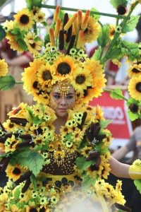 Peserta Tomohon International Flower Festival. Foto: ist.