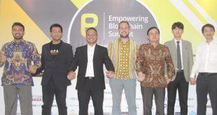 Prescon jelang Empowering Blockchain Summit di jakarta, Rabu (14/9/2019). Foto: Ki2.