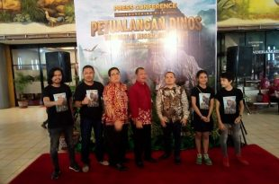 Suasana prescon film Petualangan Dinos di Teater Imax Keong Emas TMM, Sabtu (28/12/2019) malam di TMII. Foto: DSP.