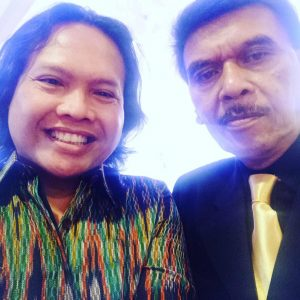 Ageng Kiwi dan almarhum Bartje VH. Foto: Ist.