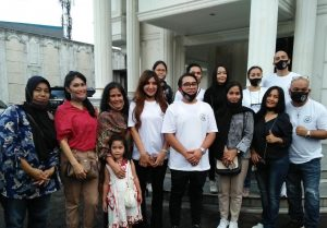 Bersama ketum Pafindo Gion Prabowo, Pafindo Peduli Covid 19. Foto: Ibra.