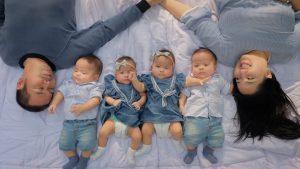 Rianto dan Tyas bersama 4 anak kembarnya jadi Yuotuber. Foto: ist.