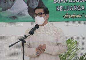 Ketum Pafindo Gion Prabowo saat memberikan sambutan diacara berbagi bersama anak yatim, Selasa (4/5/21) di jakarta.