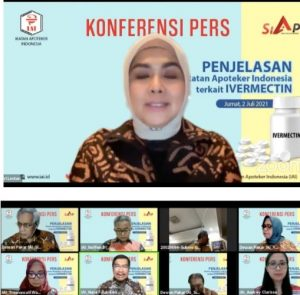 Prescon dering Pengurus Pusat Ikatan Apoteker Indonesia (PP IAI). Foto: ist.