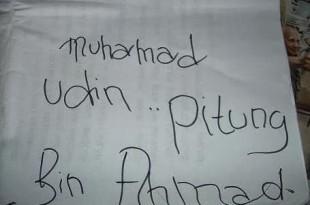 tulisan tangan Pitung