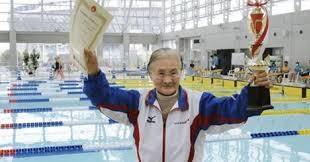 Mieko Nagaoka, Nenek Perkasa Juara Renang di Usia Ke 100