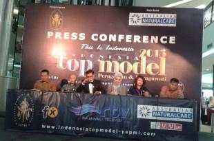 Prescon Lomba Indonesia Top Model 2015, Rabu (8/4) di Jakarta. Foto: Ibra