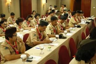 Workshop Fasilitasi Pembentukan dan Pengembangan Satuan Komunitas (SAKO) dan Gugus Darma Pramuka Tahun 2015, di Hotel Quality Manado, Jum'at (28/08/2015)