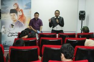 Prescon Peluncuran Trailer film Kalam-kalam langit yang dihadiri Dhoni Ramadhan (produser) dan Tarmizi Abka (sutradara). Foto: DSP.