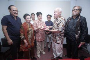David Hanan luncurkan buku  barunya, Jumat (14/7/2017) di Sinematek, Jakarta yang dihadiri tokoh film nasional. Foto: dudut Suhendra Putra.