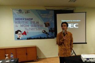 Kepala Pusat Pengembangan Film (Pusbang Film), Kemendikbud Maman Widjaya, yang  memberikan skata sambutan dan sekaligus membuka kegiatan workshop Kritik Film dan Non Kritik, kerjasama Pusbang Film Kemendikbud dan wartawan, 21-23 Agustus 2017 di hotel Alila, di Jakarta. Foto: Ibra.