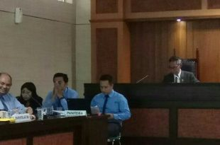 Sidang putusan kasus air mineral oleh KPPU (Komisi Pengawas Persaingan Usaha ), Selasa (19/12/2017) di Jakarta. Foto: ist.