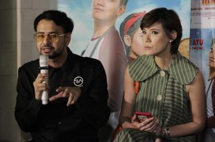 Raffi Ahmad saat memberikan keterangan pada awak media soal film produksi terbarunya, Dimsum Martabak. Foto: Dudut Suhendra Putra.