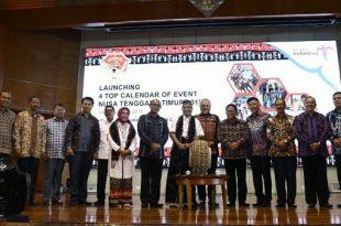 Suasana peluncurkan Top 4 Calendar of Event Nusa Tenggara Timur 2018 di Balairung Soesilo Soedarman, Jakarta, Kamis (7/6/2018).  Foto: Humas Kemenpar.