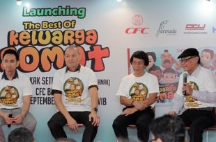 "Suasana Formula Pictures bekerja sama dengan CFC, Rabu (12-9-2018) kemarin di Jakarta,  mengeluarkan DVD Film terbaru berjudul ""The Best of Keluarga Somat"", Foto: Ist."