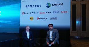 Craig Gledhill, CEO ACA Pacific (kiri) dan Wiranto, Country Manager ACA  (kanan) saat memberikan keterang pada awak media diacara ACA Pacific Solution Day pada 16 Oktober 2018 di jakarta. Foto: Ibra.