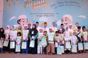 Dana Mustadhafin peduli 1000 yatim dan dhuafa. Foto: Dudut Suhendra Putra.