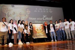 Suasana peluncuran poster dan trailer film Terima kasih Emak Terima kasih Abah, Rabu (4/3/2020) di jakarta. Foto: Ki2.