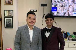Desainer Stephen Putra Wongso dari Wong Hang Tailor dan Reza Arap. Foto: Ist.